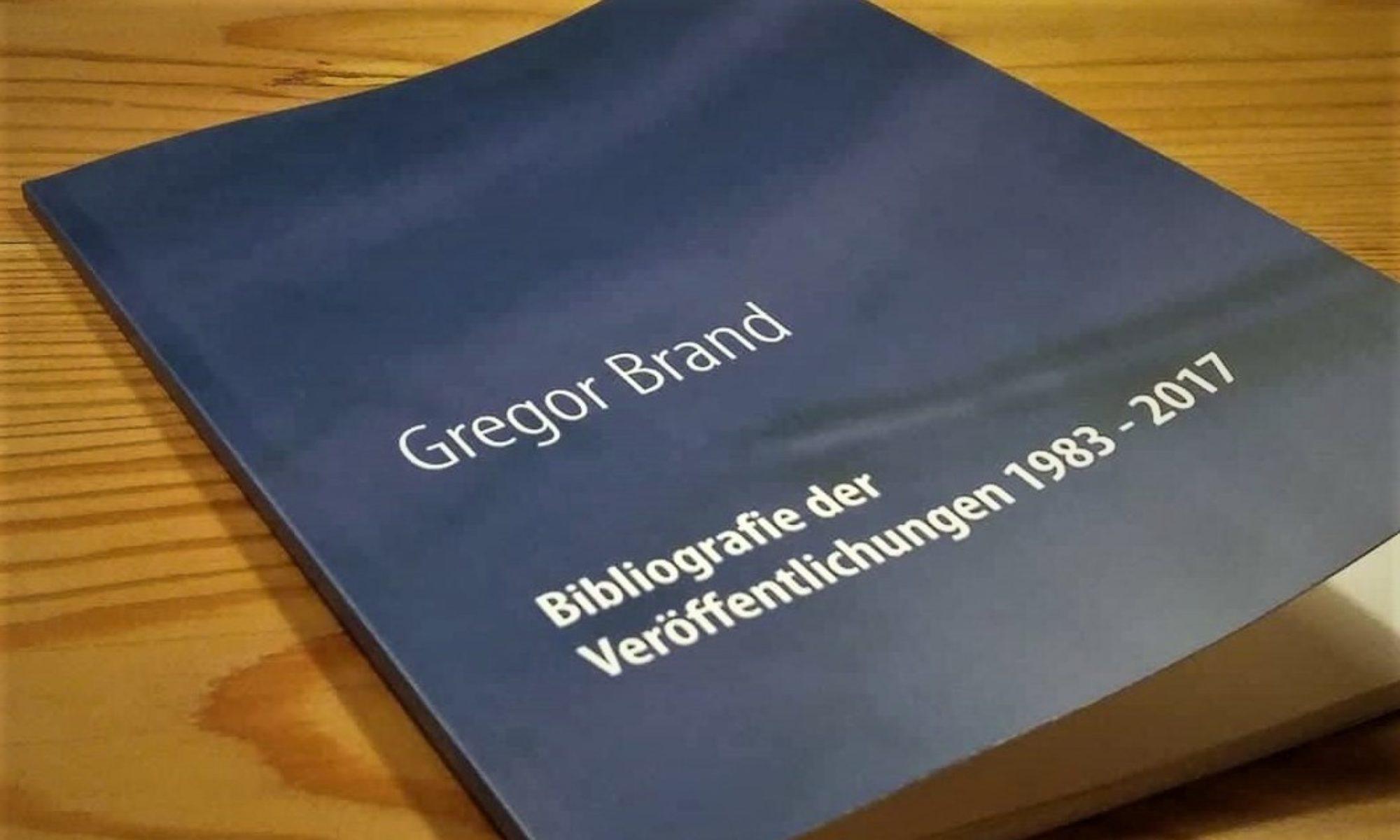 Gregor Brand: Schriftsteller